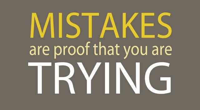 Chyby sú dôkazom, že sa snažíme.